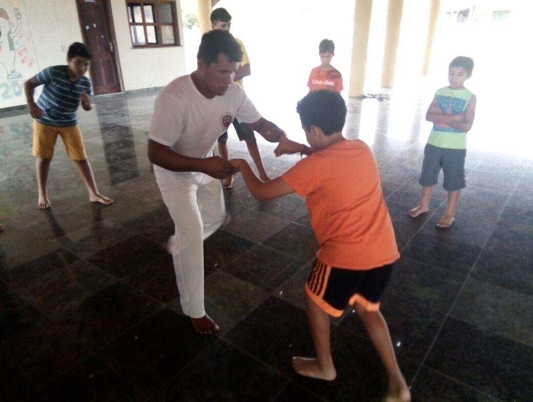 INICIO DAS AULAS DE CAPOEIRA